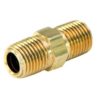 "AccuAir® - Brass Straight Male Coupling 1/4"" NPT to 1/4"" NPT"