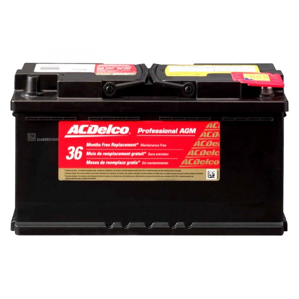 acdelco dodge charger 2009 2010 professional agm battery. Black Bedroom Furniture Sets. Home Design Ideas