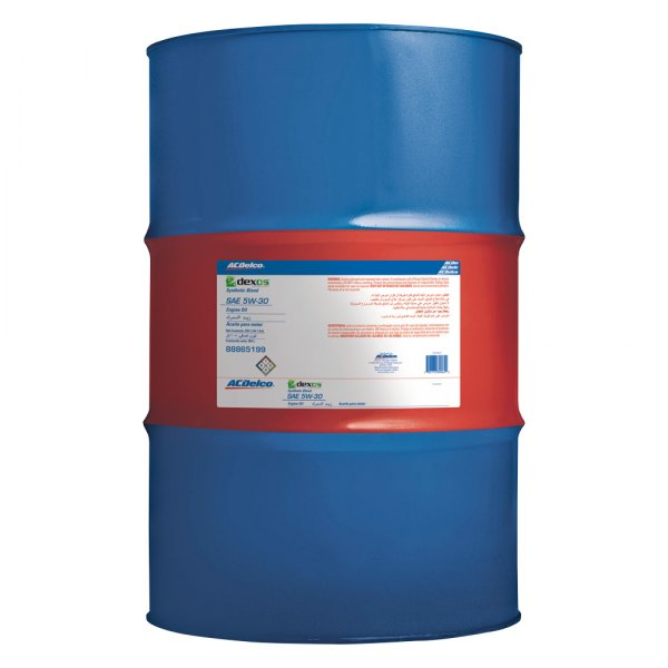 Acdelco 10 9048 sae 5w 30 dexos1 motor oil 205 l drum for Motor oil by the drum