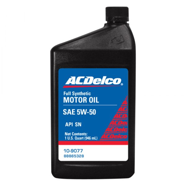 Acdelco 10 9077 sae 5w 50 synthetic motor oil 1 quart for What is synthetic motor oil made out of