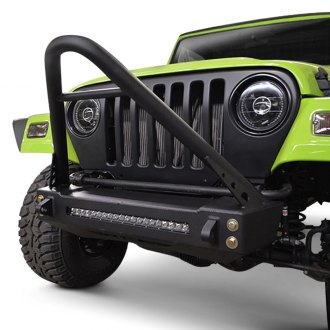 ACE Engineering® - Pro Series Stubby Black Front Winch HD Bumper with Stinger