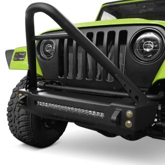 ACE Engineering® - Pro Series Stubby Black Front HD Bumper with Stinger