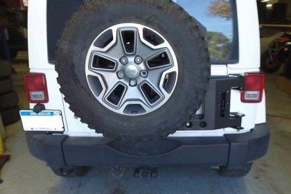 ACE Engineering® ACE JK Stand Alone Tire Carrier Insallation Video (HD)