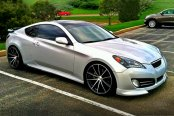 ACE® - CONVEX Gloss Black with Machined Face on Hyundai Genesis Coupe