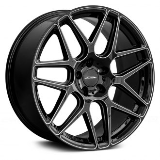 ACE ALLOY® - MESH-7 Gloss Black with Milled Accents