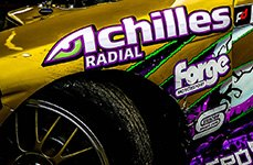 ACHILLES® - Tires on Racing Car