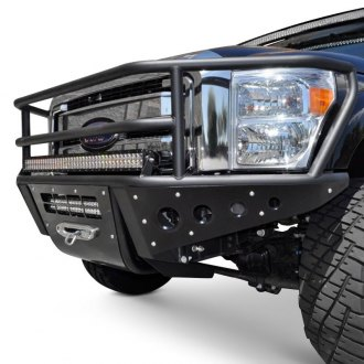 ADD® - Rancher Full Width Black Front Winch Pre-Runner Bumper with Grille Guard