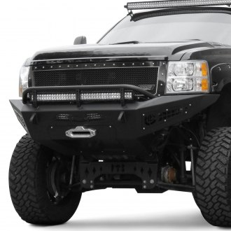 ADD® - Honeybadger Full Width Black Front Winch HD Bumper with Hoop