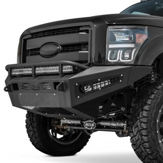 ADD® - Honeybadger Full Width Black Front HD Bumper with Hoop