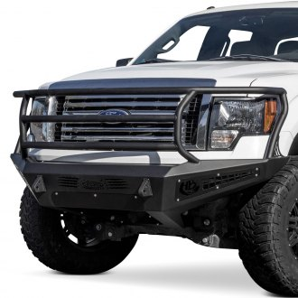 ADD® - Honeybadger Rancher Full Width Black Front HD Bumper with Grille Guard