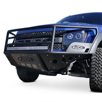 ADD® - Rancher Full Width Black Front Pre-Runner Bumper with Grille Guard