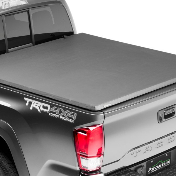 Image may not reflect your exact vehicle! Advantage Truck Accessories® - Hard Hat Tonneau Cover Closed