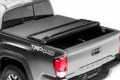 Image may not reflect your exact vehicle! Advantage Truck Accessories® - Hard Hat Tonneau Cover Mid Open