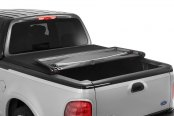 Image may not reflect your exact vehicle! Advantage Truck Accessories® - Torza Premier Tonneau Cover Mid Open