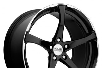 "ADVANTI RACING® - DENARO Gloss Black with Machined Lip (18"" x 8"", +42 Offset, 5x114.3 Bolt Pattern, 73.1mm Hub)"