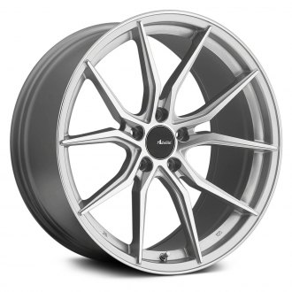 ADVANTI RACING® - HYBRIS Silver with Machined Face