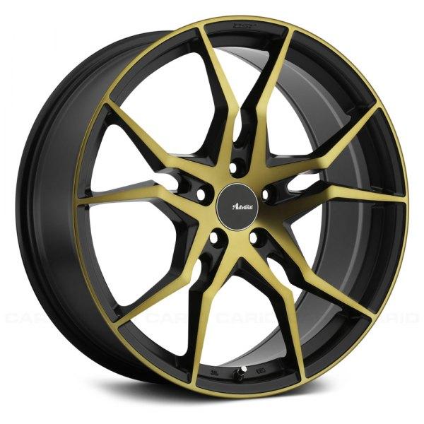 advanti racing hydra wheels black with bronze rims. Black Bedroom Furniture Sets. Home Design Ideas