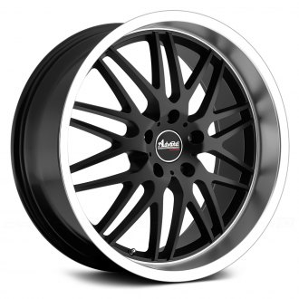ADVANTI RACING® - KUDOS Matte Black with Machined Lip