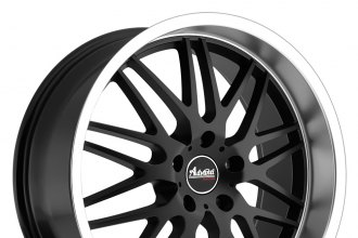 "ADVANTI RACING® - KUDOS Matte Black with Machined Lip (18"" x 8"", +32 Offset, 5x120.65 Bolt Pattern, 74.1mm Hub)"