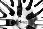 ADVANTI RACING® - PRODIGO Black with Machined Face Close-Up