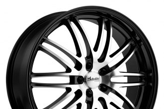 advanti racing prodigo wheels black with machined face rims. Black Bedroom Furniture Sets. Home Design Ideas