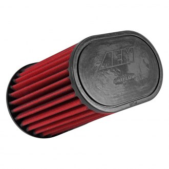 "AEM® - DryFlow Dual Flange Oval Tapered Air Filter (7.75"" TOL x 8.188"" H x 1"" FL x 3"" F x 9"" BOL x 6"" BOW x 5"" TOW)"