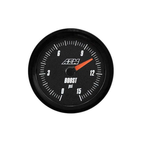 AEM® - Analog Boost / Fuel Pressure Gauge (SAE, 0 to 15 psi)
