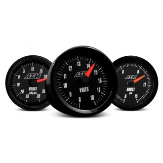 AEM® - In-Dash Black Face Analog Gauges