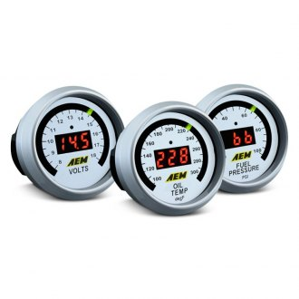AEM® - In-Dash White Face Digital Gauges