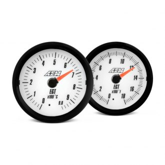 AEM® - In-Dash White Face Analog Gauges