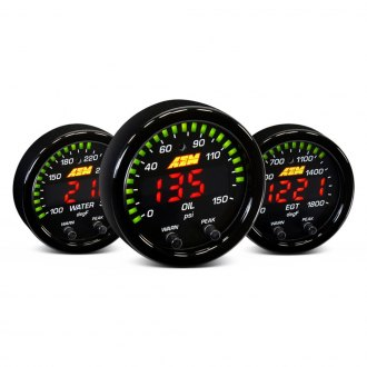 "AEM® - X-Series 2-1/16"" In-Dash Black Gauges"