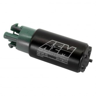 AEM® - 320LPH E85-Compatible High Flow In-Tank Fuel Pump (65mm Short Offset Inlet with hooks, Inline)