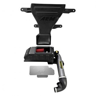 AEM® - Aluminum Gunmetal Gray Cold Air Intake System with Red Filter