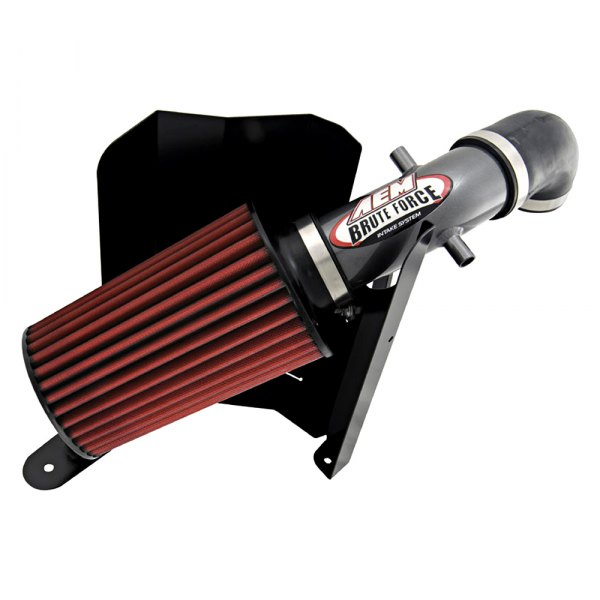 Aluminum Red Cold Air Intake System With: Jeep Cherokee 4.0L 1991 Brute Force™ Aluminum Cold