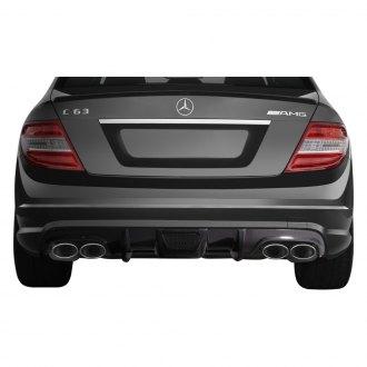 Mercedes c class rear diffusers carbon fiber fiberglass carid aero function af 1 style carbon fiber rear diffuser fandeluxe Image collections