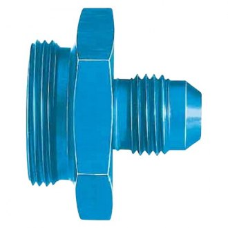 "Aeroquip® - Blue Anodized -6 AN Hose Size to 1""-20 Thread Carburetor and Fuel Pump Adapter"