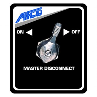 AFCO® - Master Disconnect Black Switch Panel