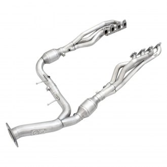aFe® - Twisted Steel™ Stainless Steel Long Tube Exhaust Headers with Catted Y-Pipe
