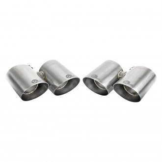 aFe® - Mach Force XP™ 304 SS Round Angle Cut Quad Brushed Exhaust Tips