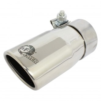 aFe® - Mach Force XP™ 304 SS Round Angle Cut Clamp-On Exhaust Tip
