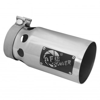 aFe® - Rebel XD Series 409 SS Round Straight Cut Clamp-On Exhaust Tip