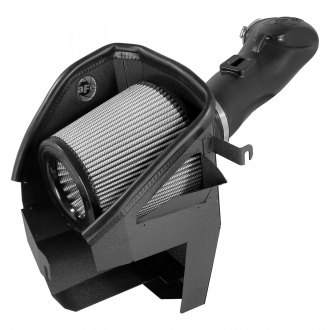 aFe® - Magnum Force™ Stage 2 Aluminum Black Cold Air Intake System with Pro Dry S Gray Filter
