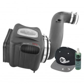 aFe® - Diesel Elite™ Momentum™ HD Aluminum Black Cold Air Intake System with Pro Dry S Gray Filter