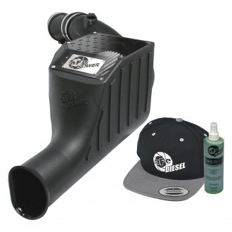 aFe® - Diesel Elite™ Magnum Force™ Stage 2 Si Aluminum Black Cold Air Intake System with Pro Dry S Gray Filter