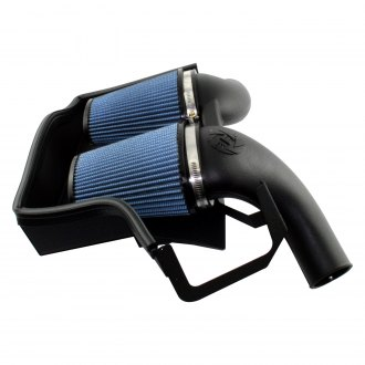 aFe® - Magnum Force™ Stage 2 Aluminum Black Cold Air Intake System with Pro 5R Blue Filter