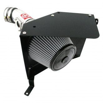 Takeda® - Retain Stage 2 Aluminum Polished Short Ram Air Intake System with Pro Dry S Gray Filter