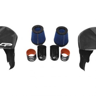 Agency Power® - Carbon Fiber Cold Air Intake Kit with Scoops