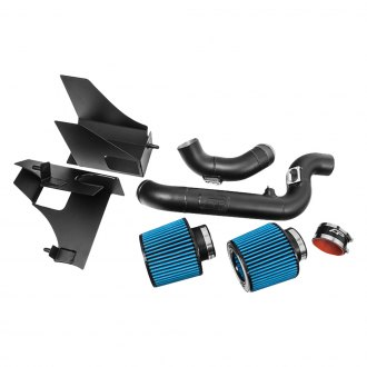 Agency Power® - Aluminum Black Cold Air Intake System with Blue Filter