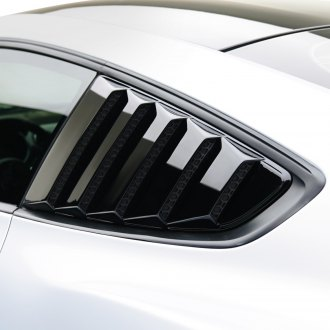 Air Design® - Smooth Shadow Black Window Louvers