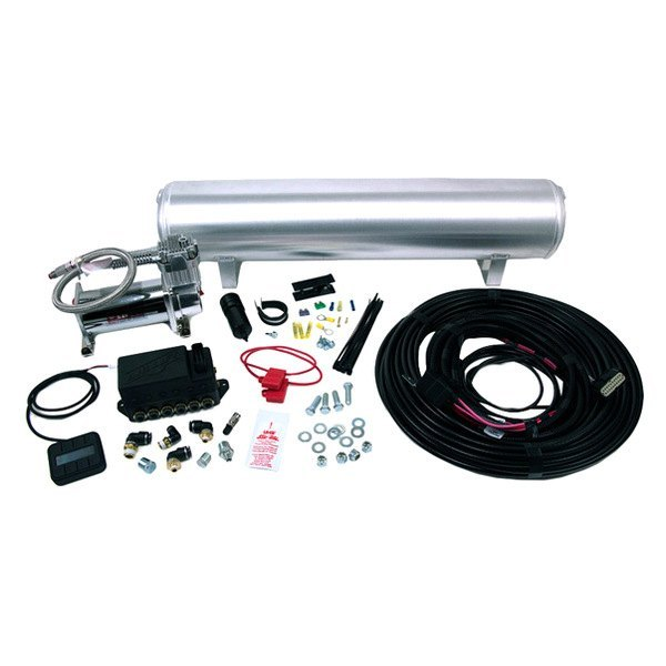 "Air Lift® 27671 - AutoPilot V2 Digital AMS (1/4"" Air Lines, 5 Gallon Tank, 200 psi, 100% Duty Cycle Chrome Compressor)"